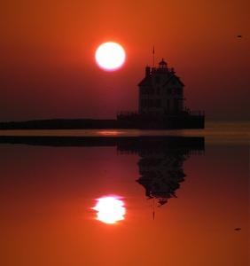 lighthouse reflection