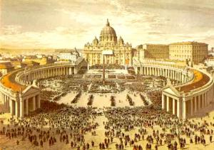 Painting-of-St-Peter-s-Basilica-roman-catholic-church-29888275-781-550