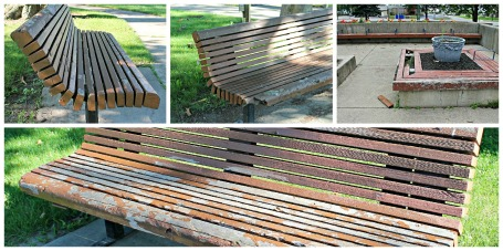 bench collage