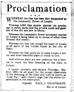 Lilac Proclamation