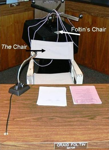 Holding the Mayors Chair Hostage- Foltin's Fiasco