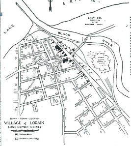 1880 Map  showing stream