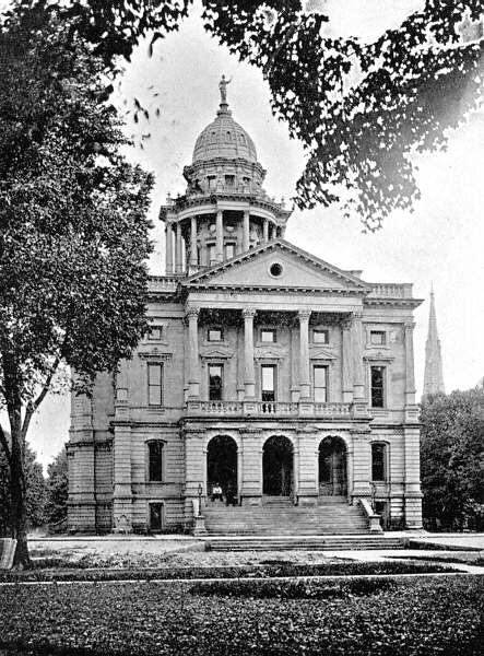 Elyria Court House  with  cupola