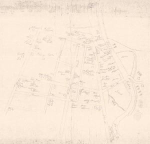 Handwritten Gillmore Map date unknown