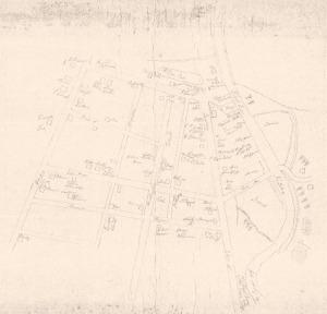 Handwritten Gillmore Map date unknown