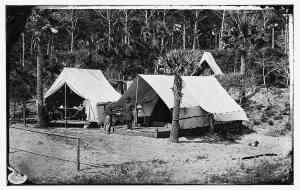Gillmore before his tent II