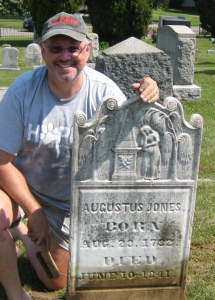 Jim Jones at Augustus Jones Gravestone